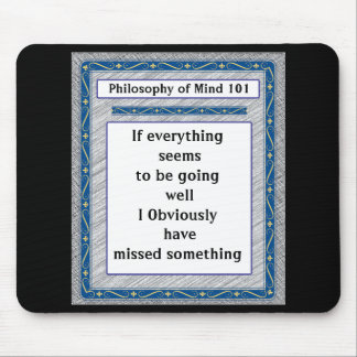 Philosophy of Mind 101 Mouse Pad