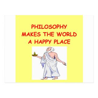 philosophy postcard