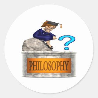 Philosophy Classic Round Sticker