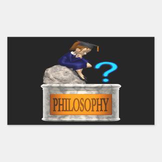 Philosophy Rectangular Sticker