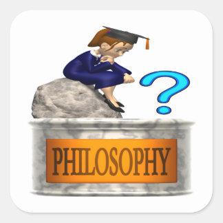 Philosophy Square Sticker