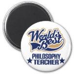 Philosophy Teacher Gift (Worlds Best) Fridge Magnets