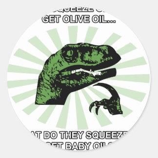 Philosoraptor Baby Oil Sticker