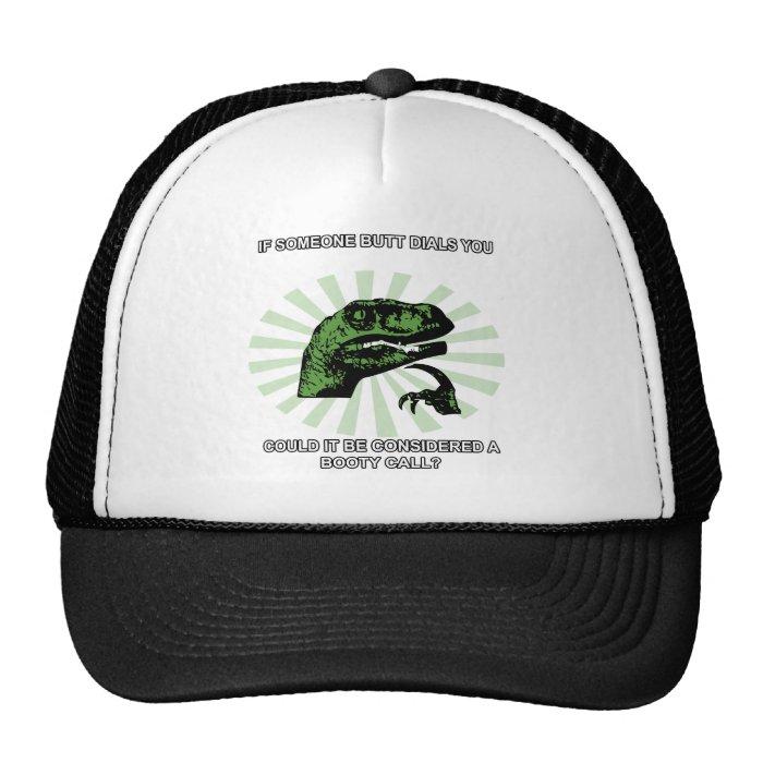 Philosoraptor Booty Calls Trucker Hat