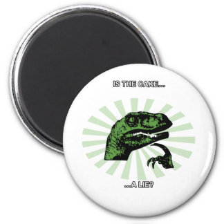 Philosoraptor Cakes and lies Magnets