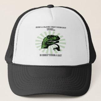 Philosoraptor Clocks Trucker Hat