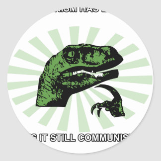 Philosoraptor Communism Round Sticker