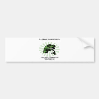 Philosoraptor Deaf Language Bumper Sticker
