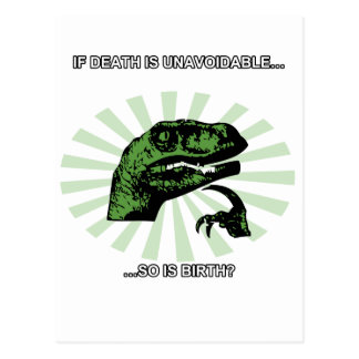 Philosoraptor Death and Birth Post Cards