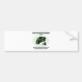 Philosoraptor Earth and God Bumper Sticker