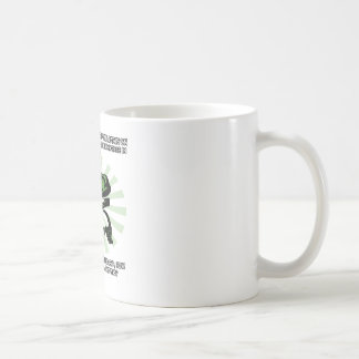 Philosoraptor Earth and God Coffee Mug