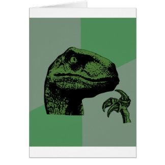 Philosoraptor en blanco tarjetas