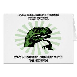 Philosoraptor es la pluma más poderosa tarjeta de felicitación