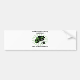 Philosoraptor Hipsters Bumper Sticker