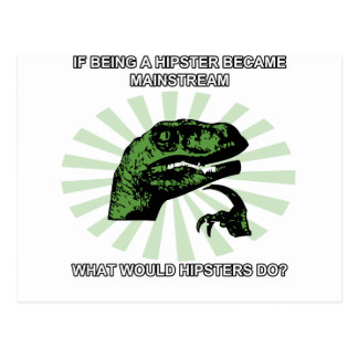 Philosoraptor Hipsters Postcard
