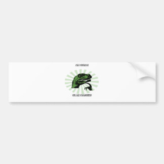 Philosoraptor Humans Bumper Sticker