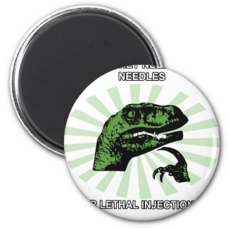 Philosoraptor Lethal Injections 2 Inch Round Magnet
