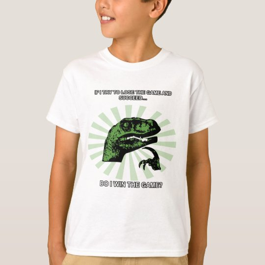 Philosoraptor losing and winning T-Shirt