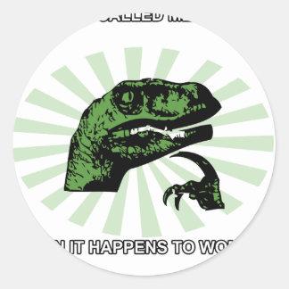Philosoraptor Menopause Round Sticker