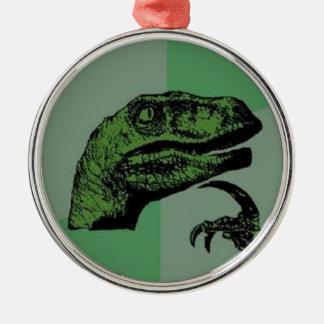 Philosoraptor Metal Ornament
