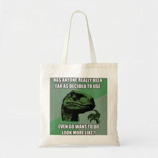 Philosoraptor Nonsense Tote Bag