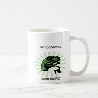 Philosoraptor Noses and Feet Coffee Mug