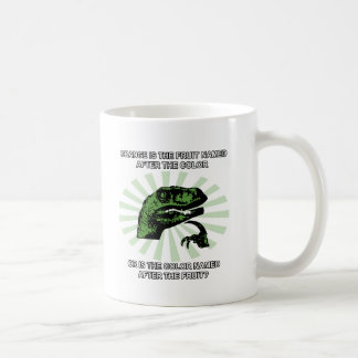 Philosoraptor Orange Coffee Mug