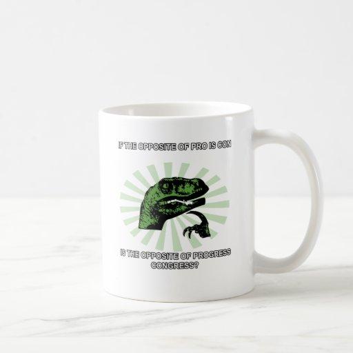 Philosoraptor Progress and Congress Classic White Coffee Mug