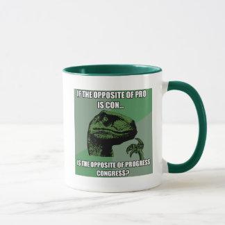 Philosoraptor Progress Vs Congress Mug