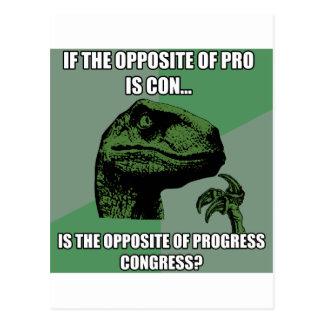 Philosoraptor Progress Vs Congress Postcard