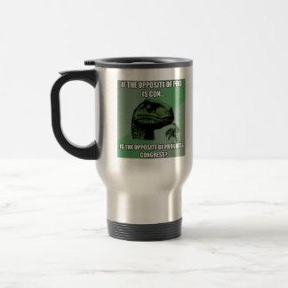 Philosoraptor Progress Vs Congress Travel Mug