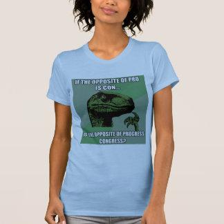 Philosoraptor Progress Vs Congress Tee Shirt