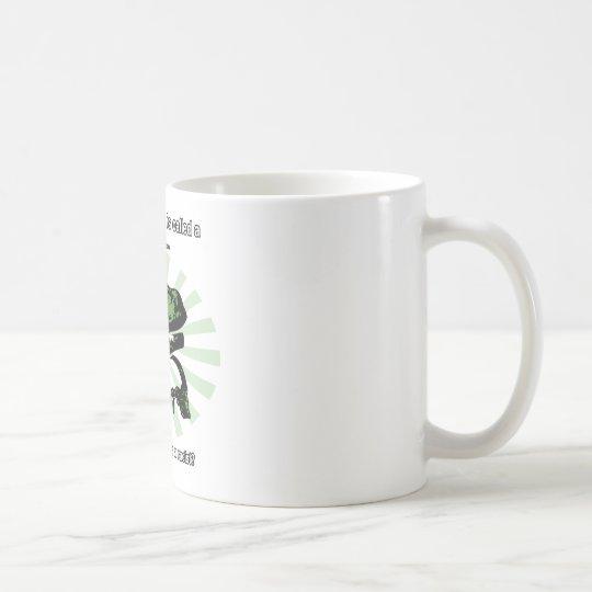 Philosoraptor Race Car Drive Joke Coffee Mug