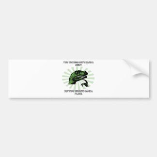 Philosoraptor Right and Wright Funny Bumper Sticker