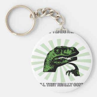 Philosoraptor Right or Wrong Funny Keychain