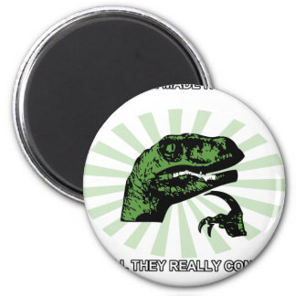 Philosoraptor Right or Wrong Funny Magnet