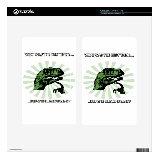 Philosoraptor Sliced Bread Skin For Kindle Fire