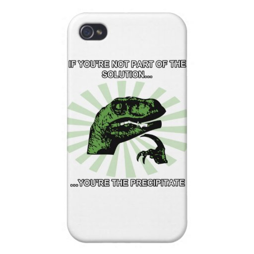 Philosoraptor solution funny covers for iPhone 4