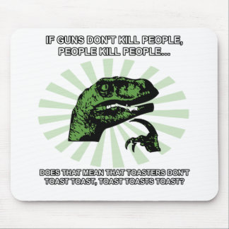 Philosoraptor Toast and Toasters Mouse Pads