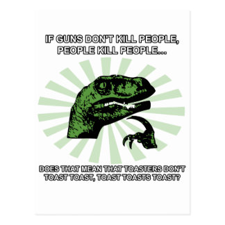 Philosoraptor Toast and Toasters Postcard