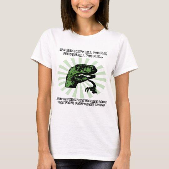 Philosoraptor Toast and Toasters T-Shirt