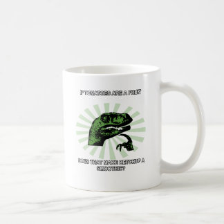 Philosoraptor Tomatoes and Ketchup Coffee Mug