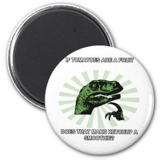 Philosoraptor Tomatoes and Ketchup Magnet
