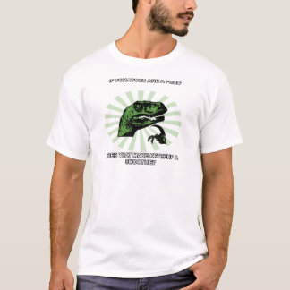 Philosoraptor Tomatoes and Ketchup T-Shirt