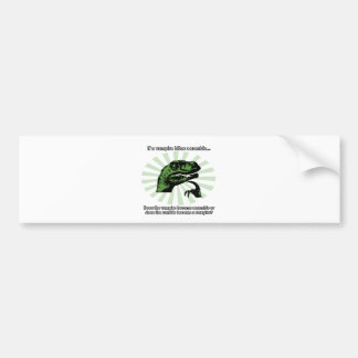 Philosoraptor Vampires and Zombies Bumper Sticker