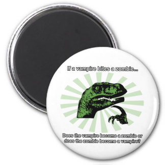 Philosoraptor Vampires and Zombies Magnets