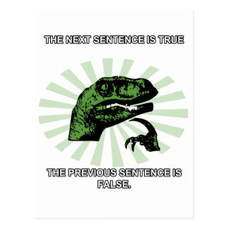 Philosoraptor verdad y falso postales