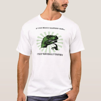 Philosoraptor Wasting Time T-Shirt