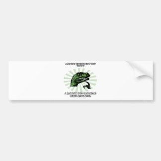 Philosoraptor Watches Funny Bumper Sticker