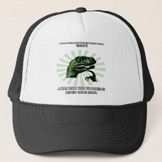 Philosoraptor Watches Funny Trucker Hat